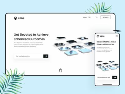 Xone - Concept Landing Page | Responsive Design