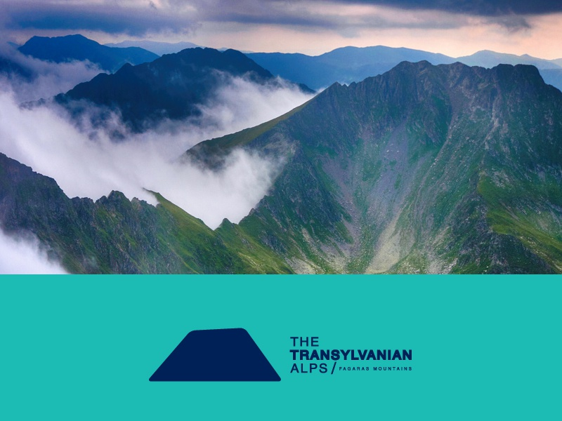 The Transylvanian Alps tourism mountains travel identity branding logo