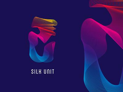 Silk Unit mark vector purple gradients design illustrator texture pattern graphic design identity branding logo