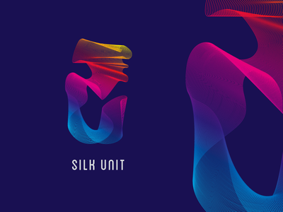 Silk Unit mark vector purple gradients design illustrator texture pattern graphic design identity branding logo