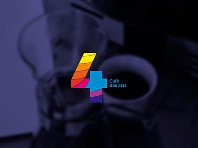 Quatre / Cafe des arts mark vector purple gradients design illustrator texture pattern graphic design identity branding logo