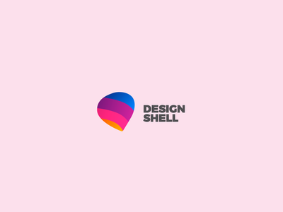 Design Shell Logo mark vector purple gradients design illustrator texture pattern graphic design identity branding logo