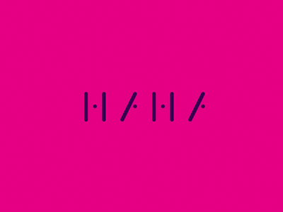 HAHA mark vector purple design illustrator minimal graphic design identity branding logo