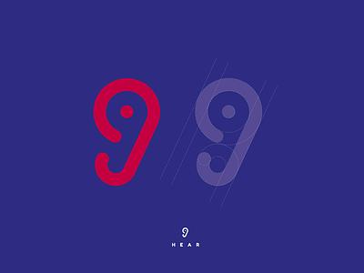 Hear mark vector design illustrator minimal graphic design identity branding logo