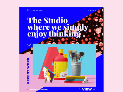 The 4Th Floor new website motion graphics navigation animation interaction design colorful responsive onepage website