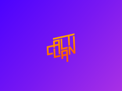 ALT CLAN design community (2nd proposal) custom type lettering typography vector design illustrator type graphic design identity branding logo