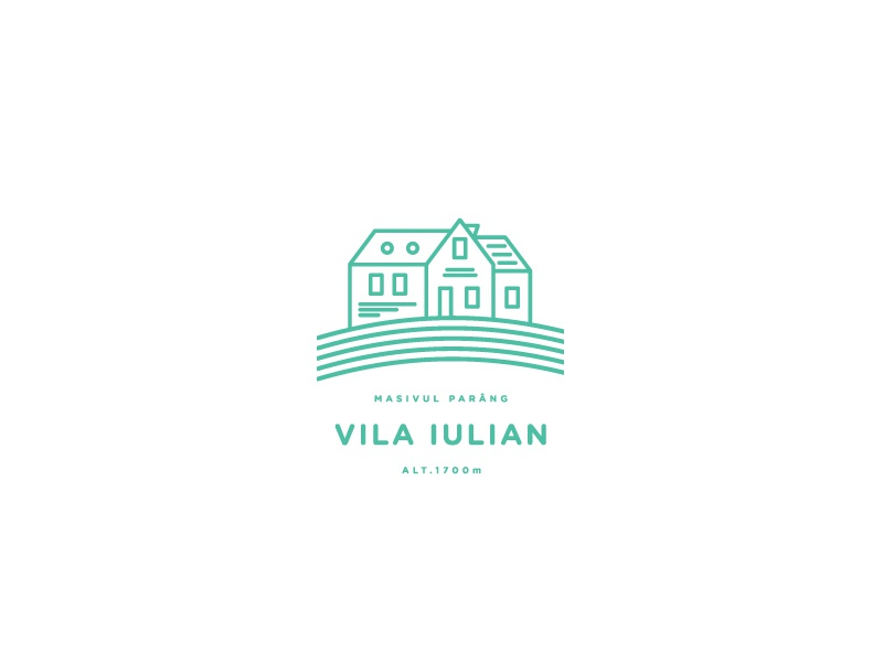Vila Iulian minimal vector line travel tourism mountains logo identity branding