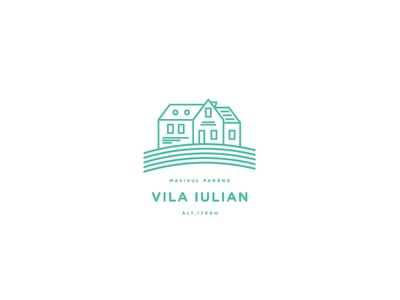 Vila Iulian minimal vector line travel tourism mountains logo identity branding