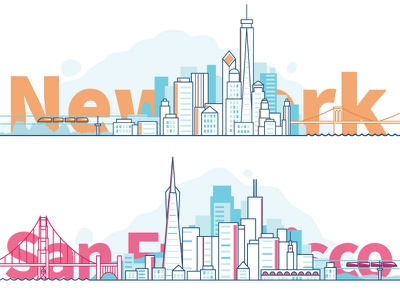 From New York to San Francisco in 45 minutes san francisco new york dreams hyperloop skyline