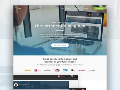 Oak Website parallax scroll design material css3 html5 bootstrap website
