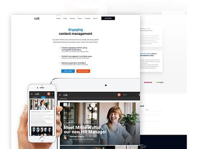 Oak Webiste Page intranet game of thrones development wordpress ui ux branding minimalist homepage website
