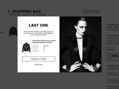 YSL Remarking Modal responsive fashion ui modal popup prompt