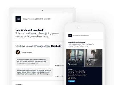 Oak Automated Emails ui ux material design css html template responsive personalised automated email
