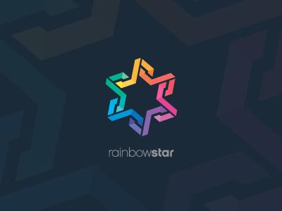 Dribbble   rainbow star