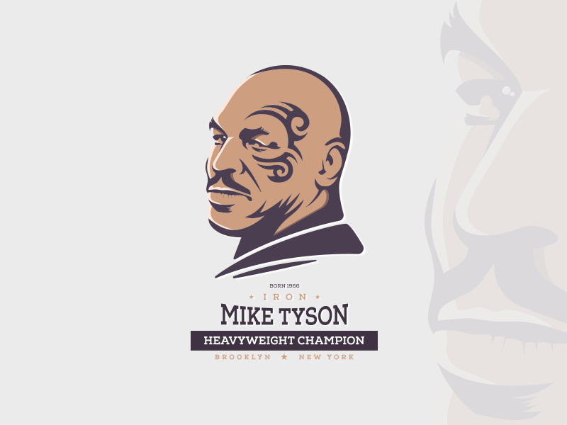 Mike Tyson iron hero new york brooklyb azantigfx azanti boxing box champion tattoo sketch mike tyson