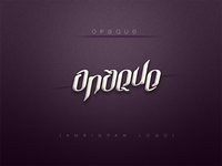 Opaque - Ambigram Logo