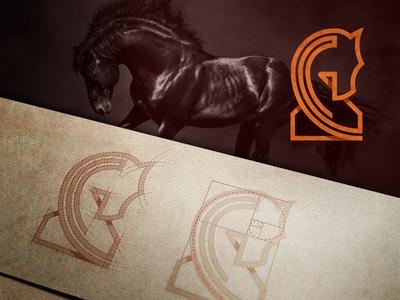Horse - Golden ratio logo
