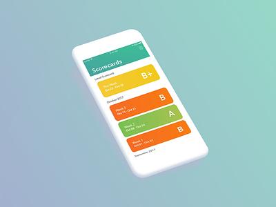 Scorecard App ui