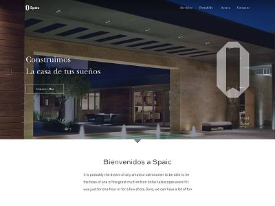 Website for contruction company houses web home