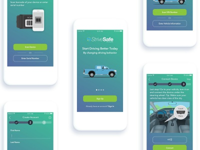 Onboarding for App app animation truck onboarding app