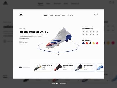 UI design for adidas shoes store shoes store shoes ali app design uidesign design logo illustration ui designer ui design dailyui uiux uii