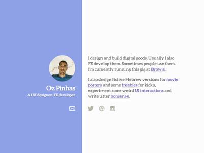 New portfolio website portfolio web design redesign ui email twitter dribbble instagram animations