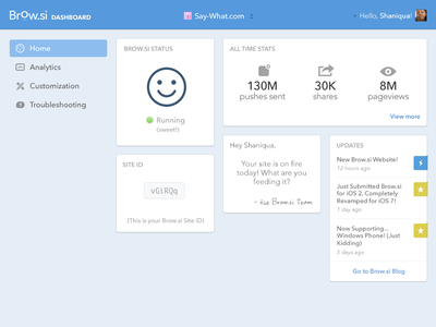 Dashboard Homepage website dashboard redesign minimal ui cards stats analytics nav dropdown dashboard homepage web design