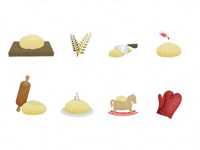 Dough.js illustration artwork dough baking rolling pin js library