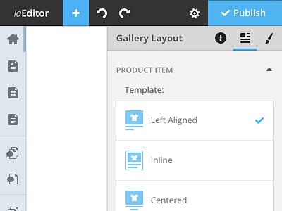Website Editor web editor ui sidebar panel tip website editor