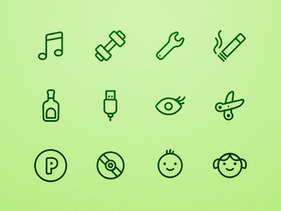 Expense Category Icons icon set icons categories outline expenses chubby billguard sketch