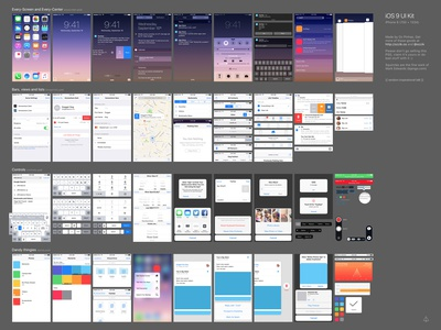 iOS 9 Complete UI (free Sketch+PSD for iPhone 5, 6 and 6 Plus) psd sketch iphone 6 plus iphone 6 iphone 5 lock screen 3d touch notification freebie ios 9 kit ui gui