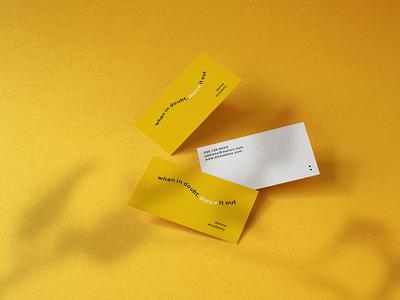 Photorealistic Business Card Mockup Vol 7.0 visualidentity corporate yellow dance studio showcase template carddesign businesscards businesscard cards card creative design clevery stationery branding identity mock-up mockup