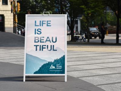 A-Frame Poster Display Sign Mockup/ Vol 4.0 board storefront stand signboard signage sign outdoor sidewalk poster banner aframe advert ads design identity clevery branding creative mock-up mockup