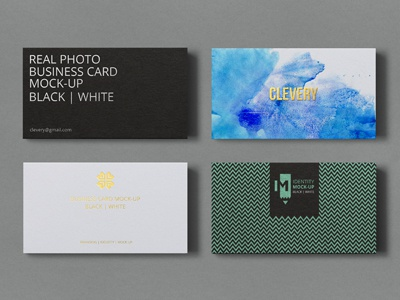 Photorealistic business card mockup black white by clevery business card mockup photorealistic colourmoves
