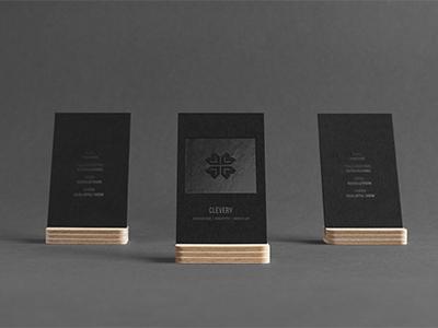 Photorealistic Business Cards Mockup / Black Edition