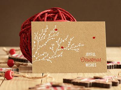 Free Real Photo Invitation/Greeting Card Mockup photorealistic cards christmas card christmas card kraft postcard kraft card free mockup invitation card mockup invitation card greeting card greeting card mockup