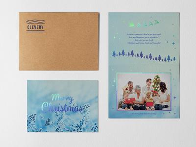 Photorealistic Invitation &Greeting Card Mockup Vol 2.0 holographic christmascard christmas hotstamping kraft bifold mockup greeting card invitation card postcard hotfoil