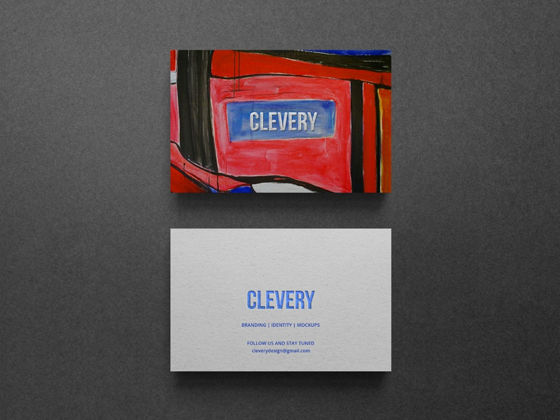 Photorealistic Business Card Mockup Clevery art identity stationery branding emboss letterpress hotstamping corporate mockup business cards business card