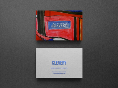 Photorealistic Business Card Mockup Clevery