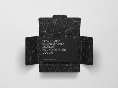 Photorealistic Business Card Mockup Round Corners Vol 2.0 clevery minimal creative card holder photo photorealistic mock-up mockup round corners black business cards business card