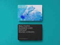 Business Card Mockup Round Corners