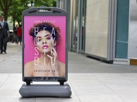 Wind Sign Poster Display Mockup/ Vol 3.0
