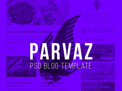 Parvaz - Personal Blog Template simple grid psd user interface ui design ui web design webdesign blog personal