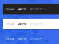 Parvaz - HTML Bootstrap Navigation Bars