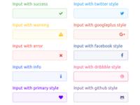Parvaz - HTML Bootstrap Inputs