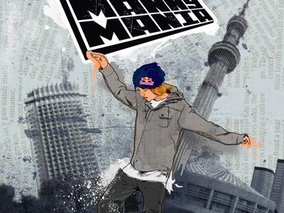 Manny mania (concept kazakhstan edition) illustration print design poster
