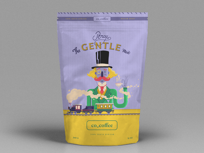 Co_coffee / Percy The Gentleman lettering art direction illustration packaging