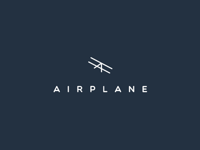 Airplane logo concept clever inspiration invite logotype illustration logo branding letter mascot emblem mark symbol flat icon line smart creative simple modern minimal