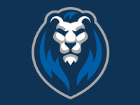 Lion Head Mascot Logo