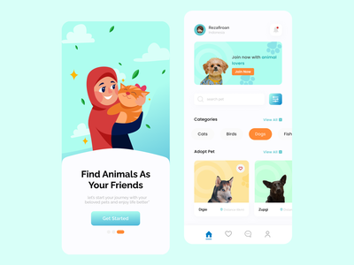 Pet Adoption App pet adoption app design ui pet animal adoptionanimal